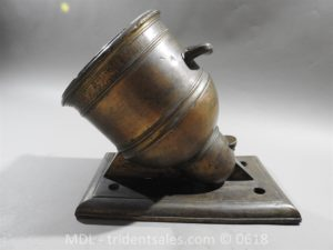 "P33851 300x225 Spanish Bronze 7 1/2"" Eprouvette Mortar Dated 1799"