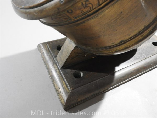 "P33853 600x450 Spanish Bronze 7 1/2"" Eprouvette Mortar Dated 1799"