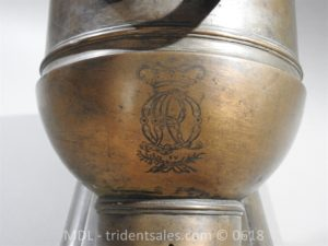 "P33855 300x225 Spanish Bronze 7 1/2"" Eprouvette Mortar Dated 1799"