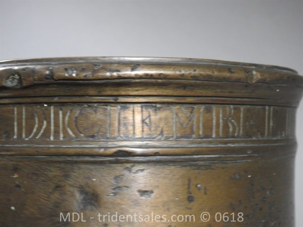 "P33859 600x450 Spanish Bronze 7 1/2"" Eprouvette Mortar Dated 1799"
