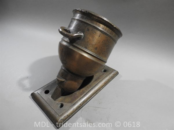 "P33860 600x450 Spanish Bronze 7 1/2"" Eprouvette Mortar Dated 1799"