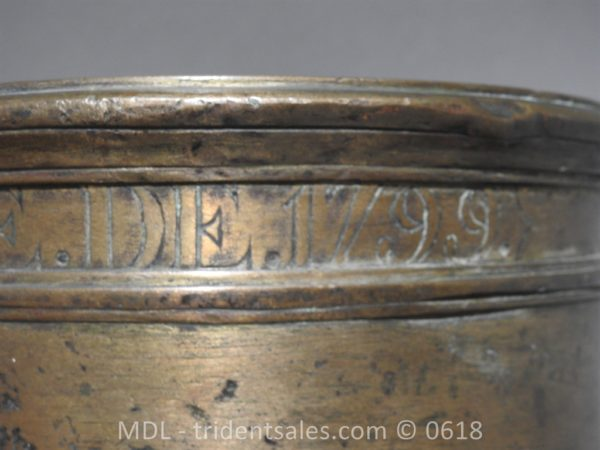 "P33861 600x450 Spanish Bronze 7 1/2"" Eprouvette Mortar Dated 1799"