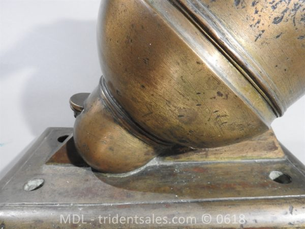"P33862 600x450 Spanish Bronze 7 1/2"" Eprouvette Mortar Dated 1799"