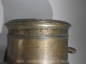 "P33863 300x225 Spanish Bronze 7 1/2"" Eprouvette Mortar Dated 1799"
