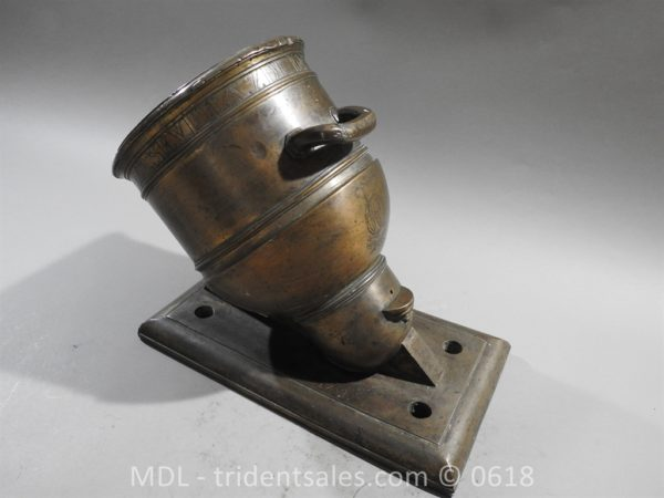 "P33864 600x450 Spanish Bronze 7 1/2"" Eprouvette Mortar Dated 1799"