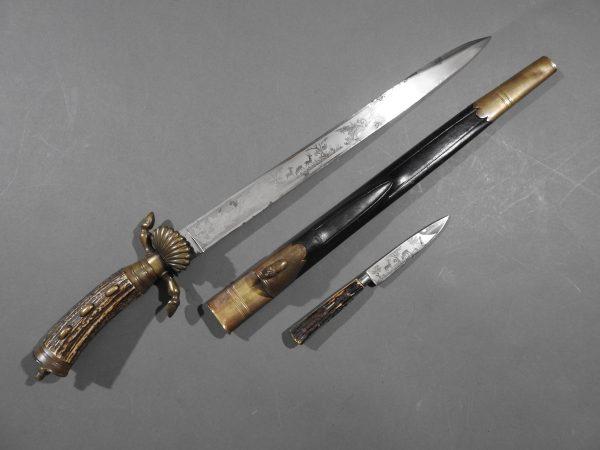 DSCN1688 600x450 Imperial German Etched Hunting Hanger