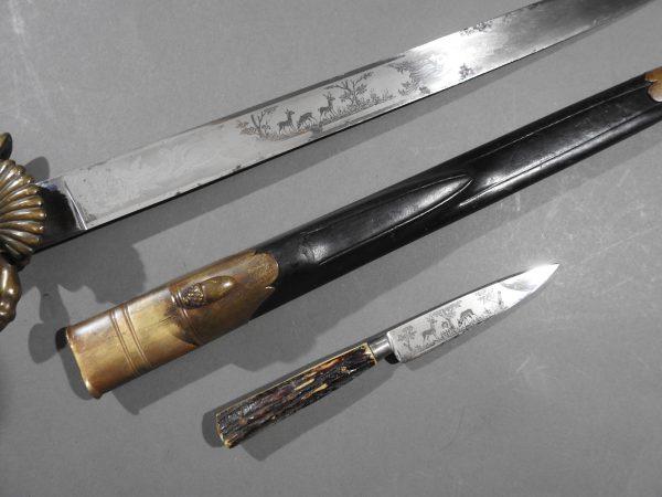 DSCN1690 600x450 Imperial German Etched Hunting Hanger