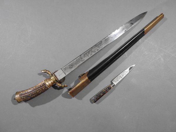 DSCN1692 600x450 Imperial German Etched Hunting Hanger