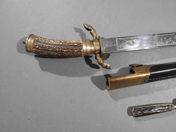 DSCN1693 600x450 Imperial German Etched Hunting Hanger
