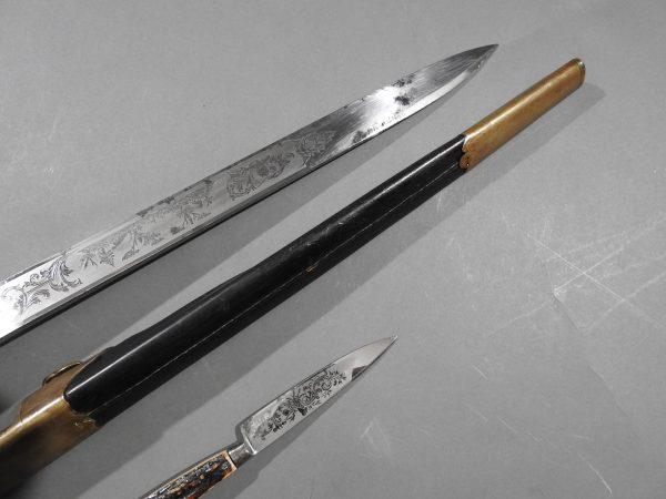 DSCN1694 600x450 Imperial German Etched Hunting Hanger