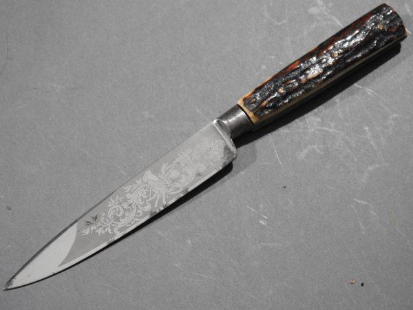 DSCN1697 600x450 Imperial German Etched Hunting Hanger