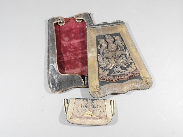 DSCN4896 600x450 Royal Artillery Victorian Officers Sabretache and Pouch