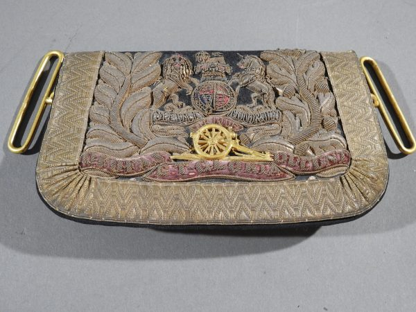 DSCN4903 600x450 Royal Artillery Victorian Officers Sabretache and Pouch