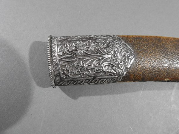 DSCN9524 600x450 Bowie Hilted Khanjar with Etched Inscription