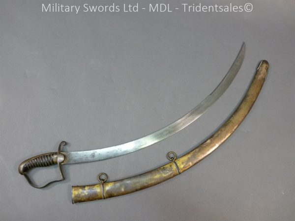 P1010426 600x450 English Officers 1796 Sword Brass Hilt and Scabbard
