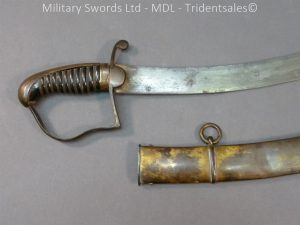 P1010427 300x225 English Officers 1796 Sword Brass Hilt and Scabbard