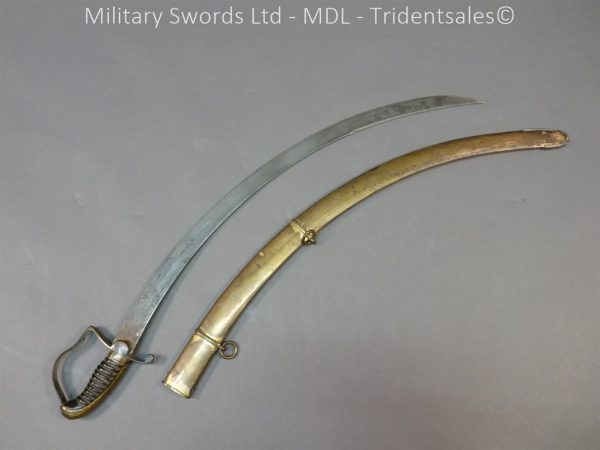P1010430 600x450 English Officers 1796 Sword Brass Hilt and Scabbard