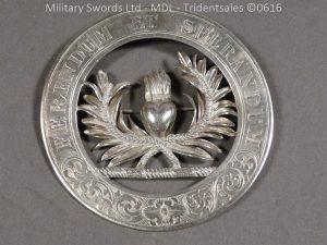 P1040325 300x225 Scottish Mackenzie Silver Plaid Brooch