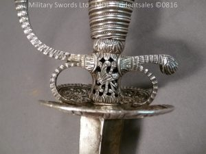P1060230 300x225 Silver Hilted English 18th Century Sword
