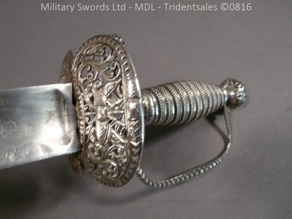 P1060244 600x450 Silver Hilted English 18th Century Sword