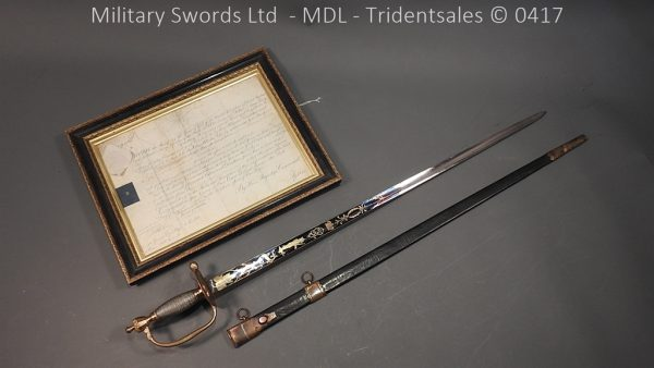 P11475 600x338 1796 Midlothian Vol Infantry Officers sword Major G Young
