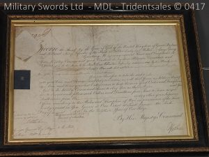 P11476 300x225 1796 Midlothian Vol Infantry Officers sword Major G Young