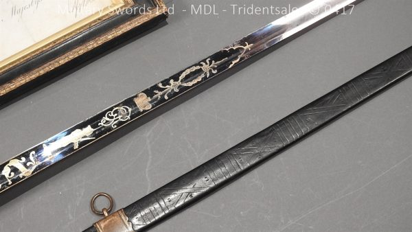 P11478 600x338 1796 Midlothian Vol Infantry Officers sword Major G Young