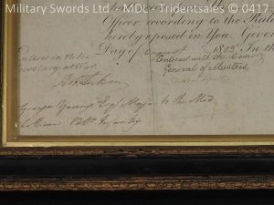 P11480 300x225 1796 Midlothian Vol Infantry Officers sword Major G Young