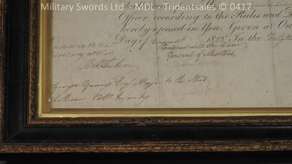 P11480 600x338 1796 Midlothian Vol Infantry Officers sword Major G Young