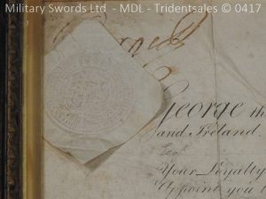 P11481 300x225 1796 Midlothian Vol Infantry Officers sword Major G Young
