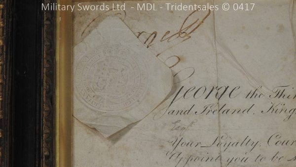 P11481 600x338 1796 Midlothian Vol Infantry Officers sword Major G Young