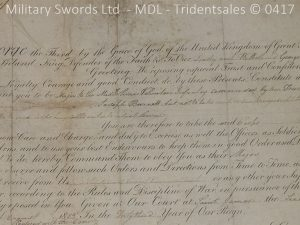 P11484 300x225 1796 Midlothian Vol Infantry Officers sword Major G Young