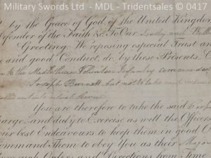 P11485 300x225 1796 Midlothian Vol Infantry Officers sword Major G Young