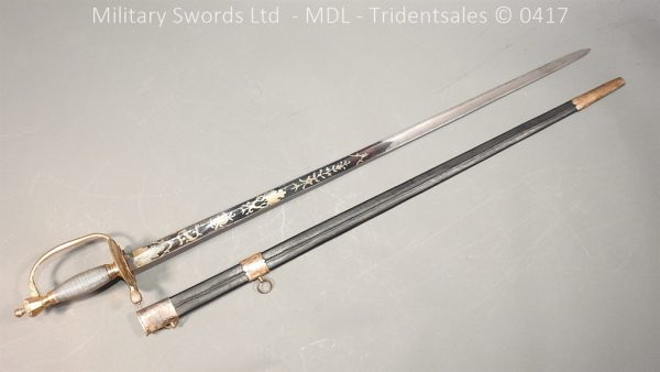 P11486 600x338 1796 Midlothian Vol Infantry Officers sword Major G Young