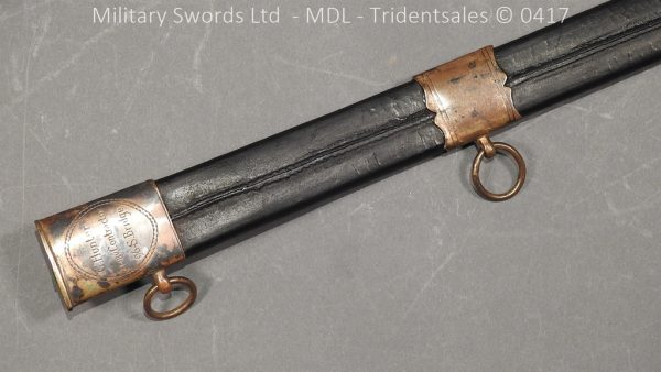 P11490 600x338 1796 Midlothian Vol Infantry Officers sword Major G Young