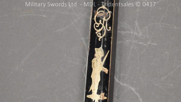P11495 600x338 1796 Midlothian Vol Infantry Officers sword Major G Young
