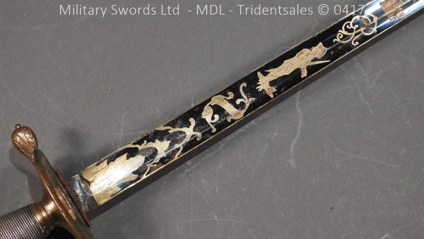 P11497 600x338 1796 Midlothian Vol Infantry Officers sword Major G Young