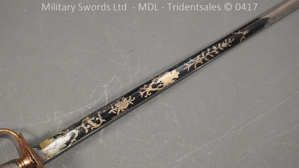 P11499 600x338 1796 Midlothian Vol Infantry Officers sword Major G Young