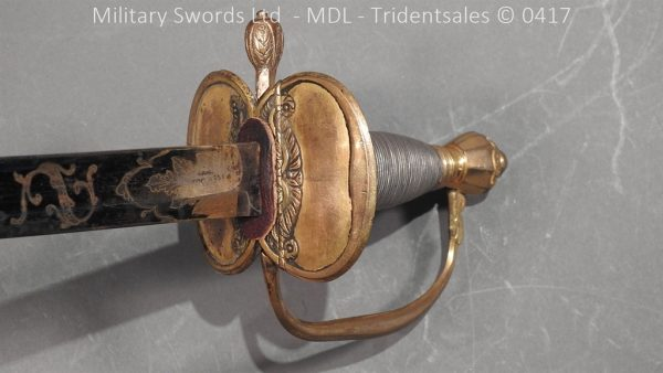 P11504 600x338 1796 Midlothian Vol Infantry Officers sword Major G Young