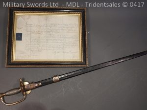 P11514 300x225 1796 Midlothian Vol Infantry Officers sword Major G Young