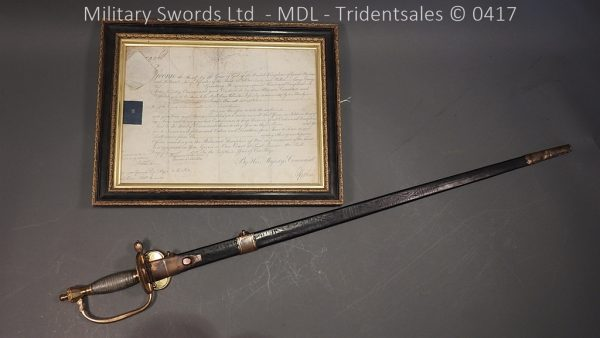 P11514 600x338 1796 Midlothian Vol Infantry Officers sword Major G Young