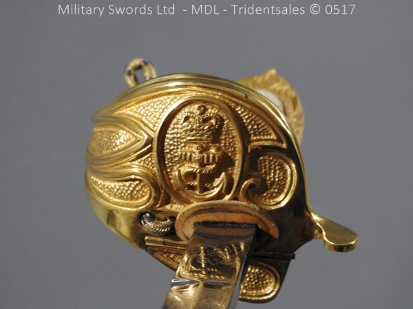 P12793 600x450 British ER 2 Officer's Naval Sword