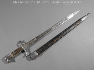 P14403 300x225 German Hirschfanger 1871 Presentation Bayonet