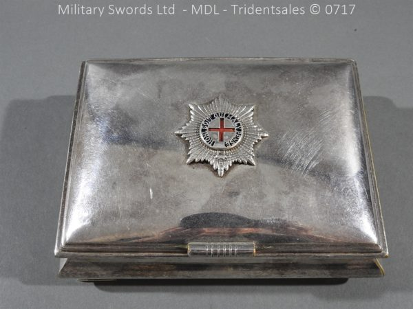 P14985 600x450 Coldstream Guards Officers Tobacco Box