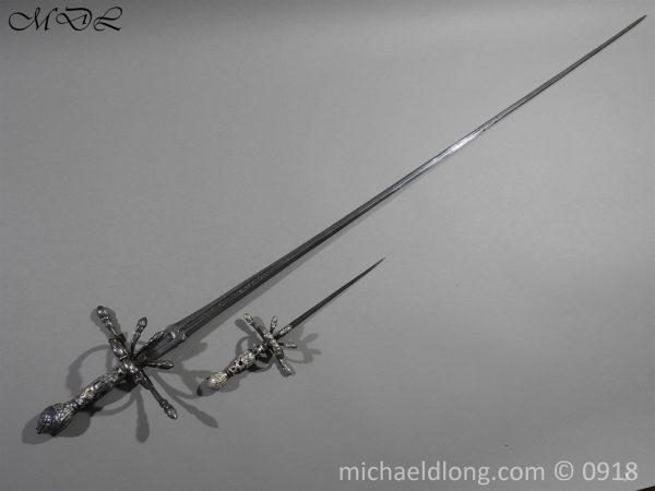 P54839 600x450 Rapier Ensuite Left Hand Dagger by Christian Leygebe c 1650