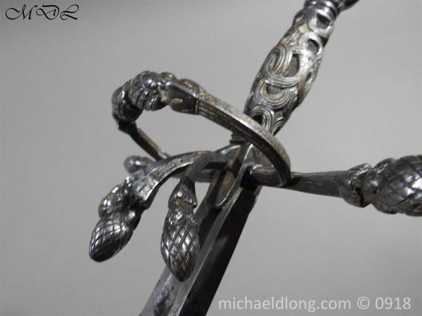 P54861 600x450 Rapier Ensuite Left Hand Dagger by Christian Leygebe c 1650