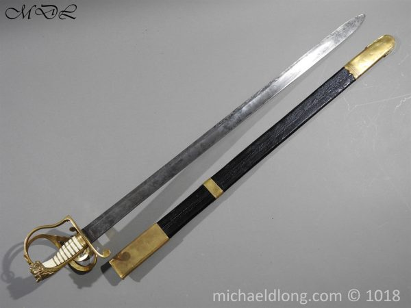 P56112 600x450 British Georgian Presentation Naval Sword