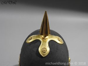 P56466 300x225 First Surrey Rifles Victorian Officer's regimental pattern Helmet c 1860