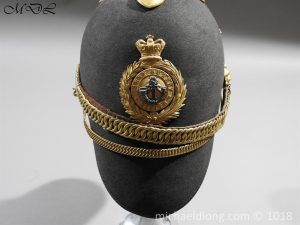 P56467 300x225 First Surrey Rifles Victorian Officer's regimental pattern Helmet c 1860