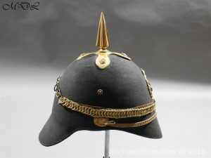 P56469 300x225 First Surrey Rifles Victorian Officer's regimental pattern Helmet c 1860